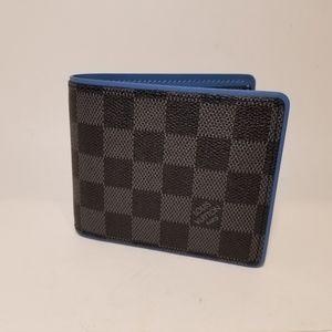 Other - Louis Vuitton DamierGraphite/Blue Wallet Authentic